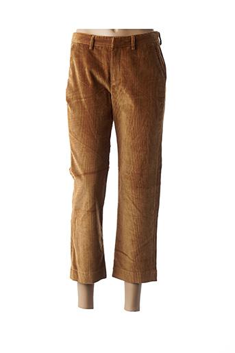 Pantalon 7/8 marron BÔ-M pour femme