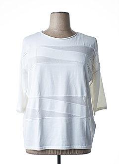 Pull col rond blanc GERRY WEBER pour femme