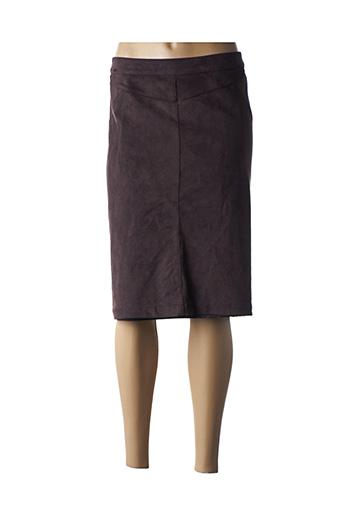 Jupe mi-longue marron FELINO pour femme