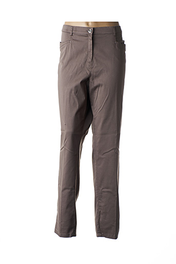 Pantalon casual marron CHRISTINE LAURE pour femme