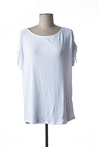 T-shirt manches courtes blanc CECIL pour femme