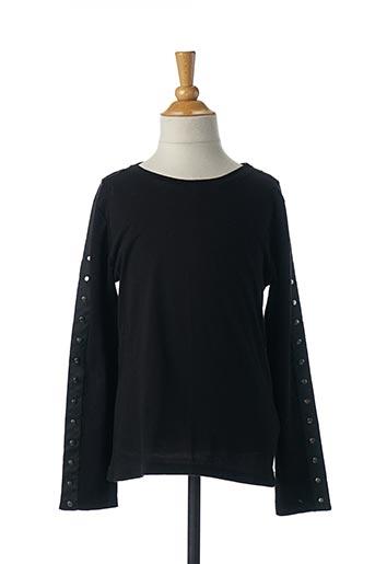 T-shirt manches longues noir PLEASE pour fille