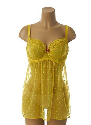 Nuisette/combinette jaune CLEO BY PANACHE pour femme