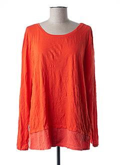 T-shirt manches longues orange STREET ONE pour femme