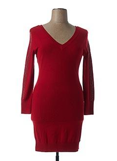 Robe mi-longue rouge KAPORAL pour femme