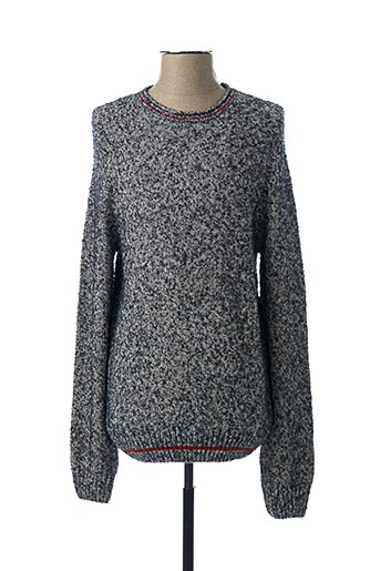 Pull col rond bleu S.OLIVER pour homme