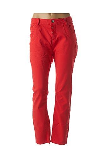 Pantalon casual rouge BE YOU K pour femme