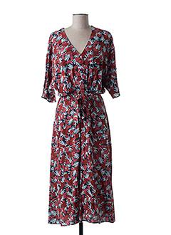 Robe mi-longue rouge DES PETITS HAUTS pour femme