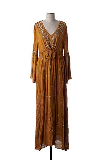 Robe longue marron AMENAPIH pour femme