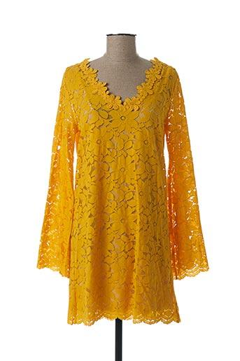 Tunique manches longues jaune AMENAPIH pour femme