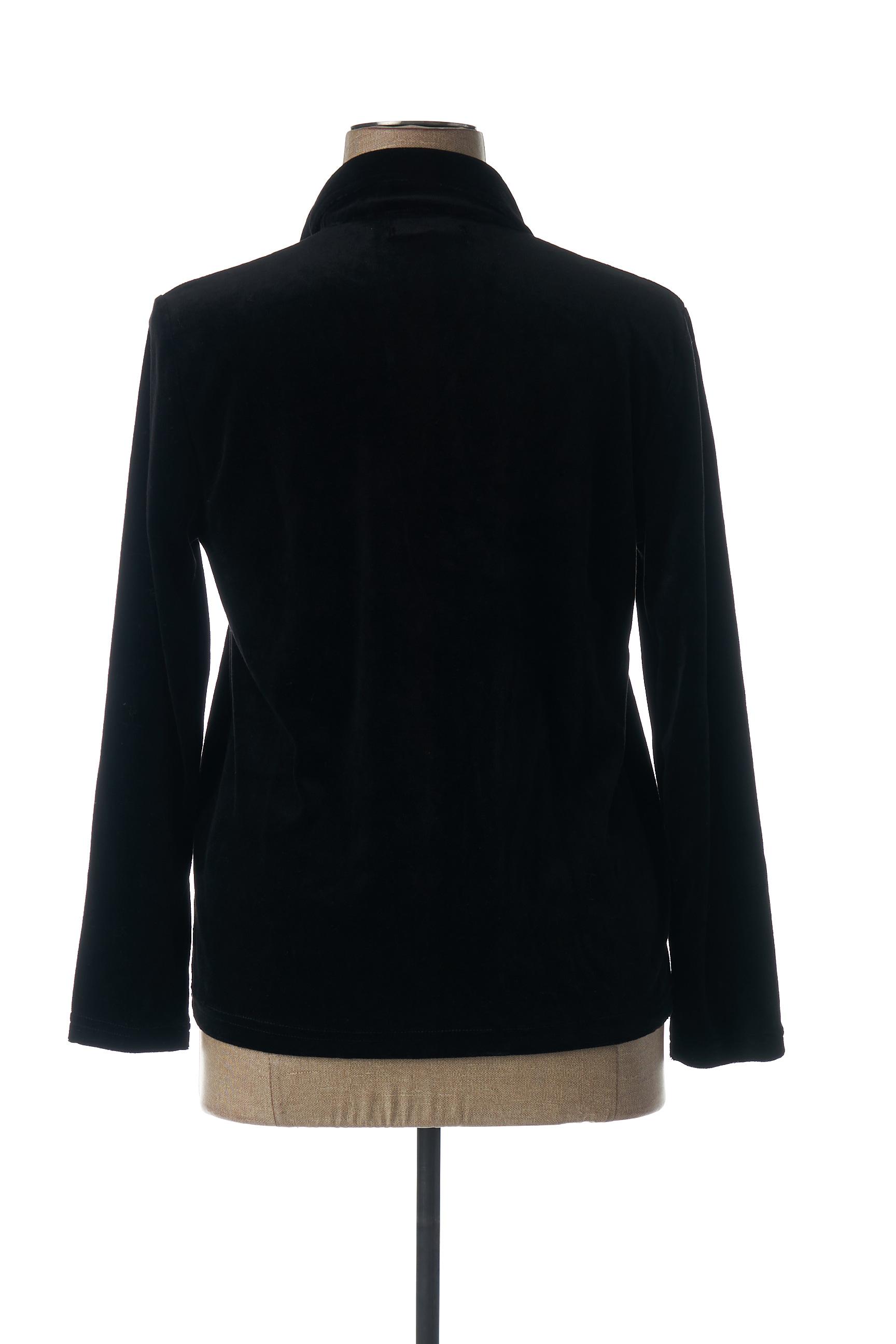 Acote Chemisiers Manches Longues Femme De Couleur Noir En Soldes Pas Cher 1440600-noir00