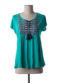 T-shirt manches courtes vert COLINE pour femme