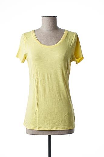 T-shirt manches courtes jaune MARBLE pour femme