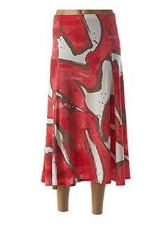 Jupe longue rouge MARBLE pour femme