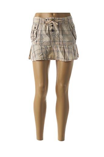 Mini-jupe beige ALPHADVENTURE pour femme