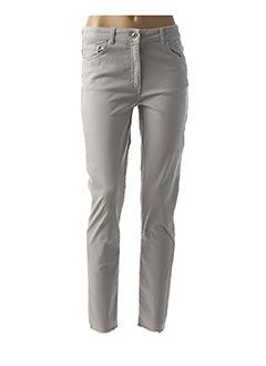 Pantalon casual gris LAUREN VIDAL pour femme
