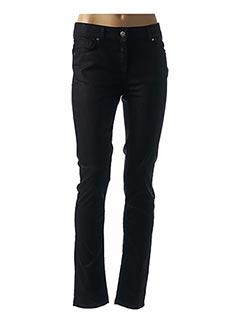 Pantalon casual noir LAUREN VIDAL pour femme