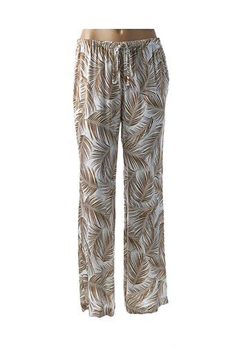 Pantalon casual beige LAUREN VIDAL pour femme
