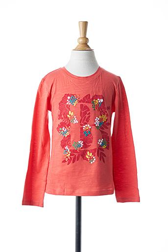 T-shirt manches longues orange BOBOLI pour fille