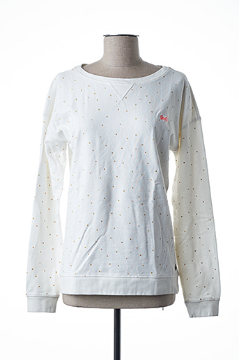 Sweat-shirt blanc PETROL INDUSTRIES pour fille