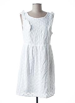 Robe courte blanc CERISE BLUE pour femme