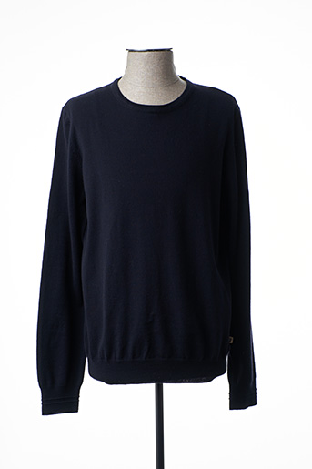 Pull col rond bleu SERGE BLANCO pour homme