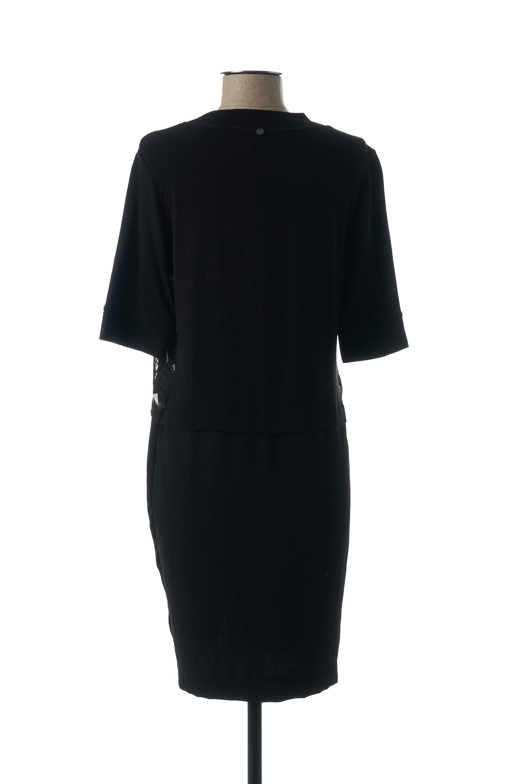 Mado Et Les Autres Robes Mi Longues Femme De Couleur Noir En Soldes Pas Cher 1440096-noir00