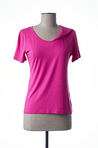 T-shirt manches courtes rose FINETTE pour femme