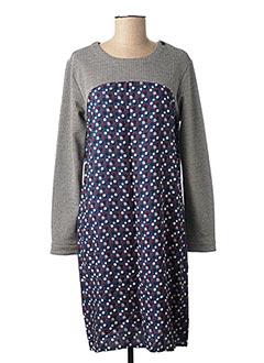 Robe mi-longue bleu THALASSA pour femme