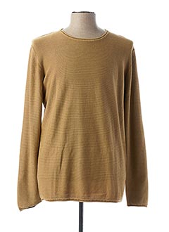Pull col rond beige DSTREZZED pour homme