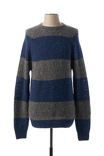 Pull col rond bleu AMERICAN VINTAGE pour homme