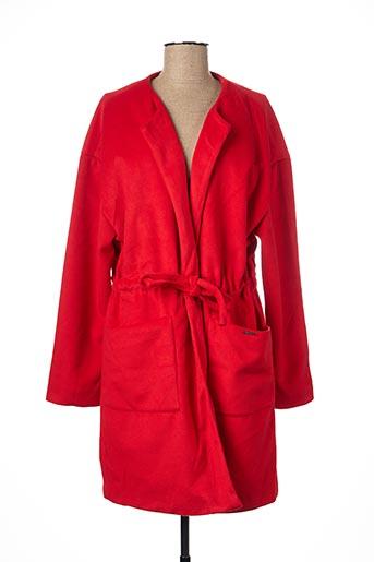 Manteau long rouge ESCANDELLE pour femme