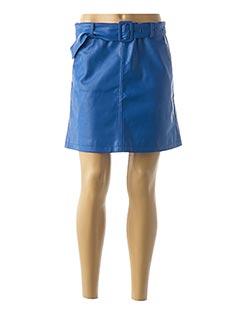 Jupe courte bleu LILI SIDONIO pour femme