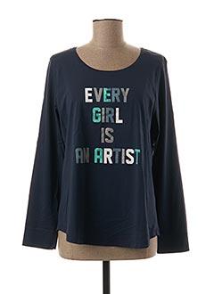 T-shirt manches longues bleu FLEUR DE SEL pour femme
