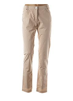 Pantalon casual beige EL INTERNATIONALE pour femme