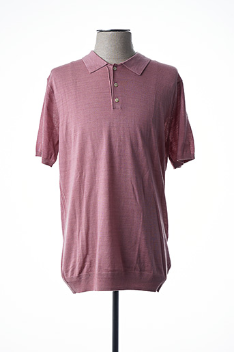 Pull col chemisier rose SCOTCH & SODA pour homme