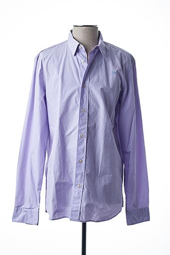 Chemise manches longues violet SCOTCH & SODA pour homme