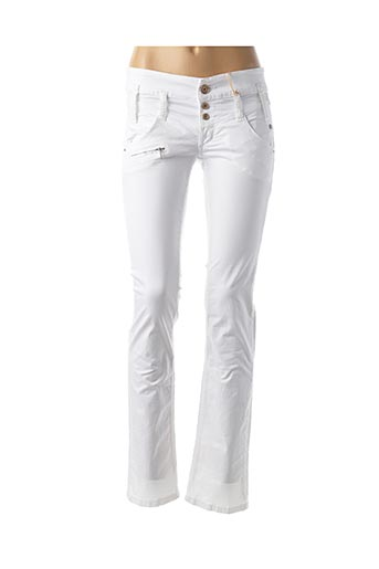 Pantalon casual blanc FREEMAN T.PORTER pour femme