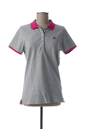 Polo manches courtes gris ARISTOW pour femme
