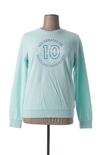 Sweat-shirt bleu CODE ZERO pour femme
