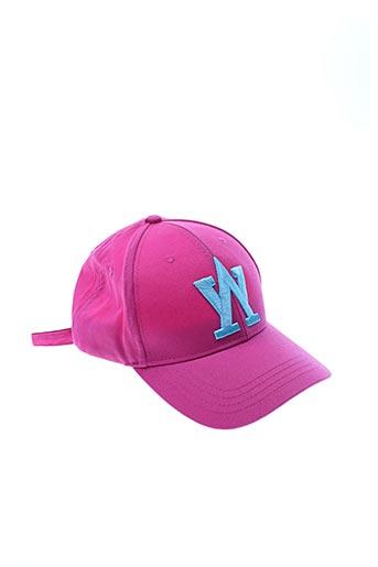Casquette rose ARISTOW pour femme