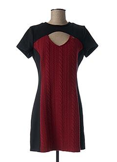 Robe courte rouge RINASCIMENTO pour femme