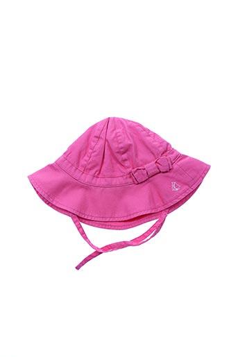 Chapeau rose PETIT BATEAU pour fille