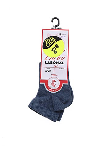 Chaussettes bleu LABONAL pour garçon