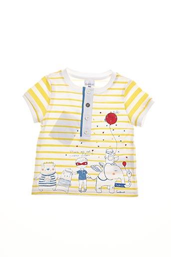 T-shirt manches courtes jaune COUDEMAIL pour enfant