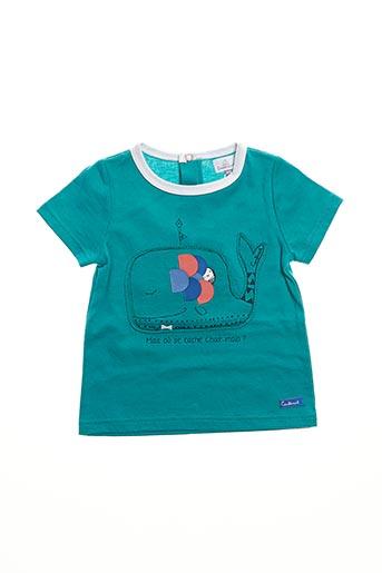 T-shirt manches courtes vert COUDEMAIL pour enfant