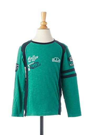 T-shirt manches longues vert COUDEMAIL pour garçon