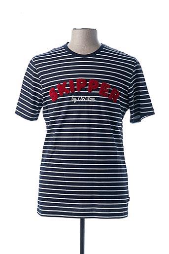 T-shirt manches courtes bleu ARISTOW pour homme