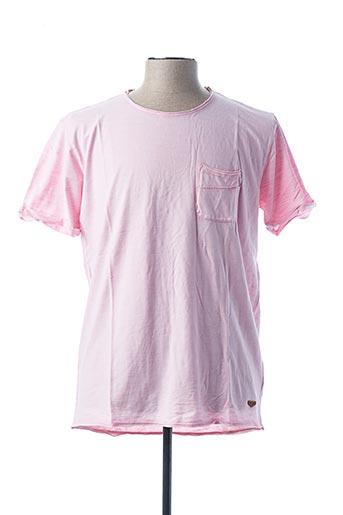 T-shirt manches courtes rose SALSA pour homme