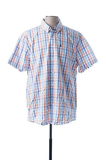 Chemise manches courtes bleu BARBOUR pour homme
